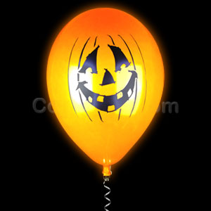 LED 14 Inch Balloons - Pumpkins 10 Pack