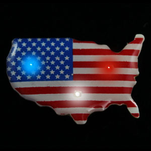Flashing U.S.A. Flag Map Blinky