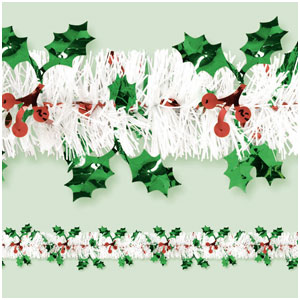 Holiday Tinsel Garland- 18ft