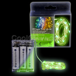 LED 10 Foot Copper String Light - Green