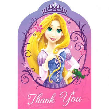 Disney Rapunzel Thank You Cards