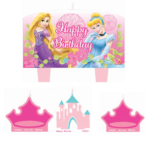 Disney Princess Mini Molded Cake Candles- 4ct