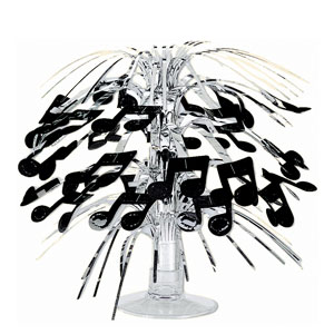 Music Notes Mini Cascade Centerpiece- 8in