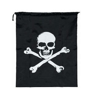 Skull and Crossbones Drawstring Bag- 22in