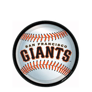 San Francisco Giants 9 Inch Plates- 18ct