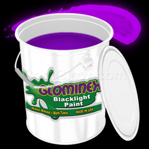 Glominex Blacklight UV Reactive Paint Gallon - Purple
