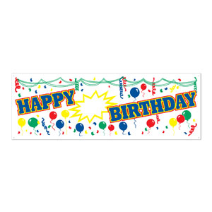 Happy Birthday Blank Number Sign Banner - 5ft