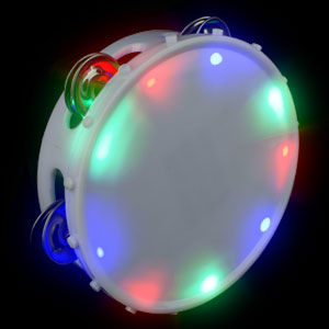 LED Round Tambourine - Multicolor