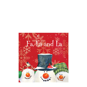 Snowman Carols Beverage Napkins