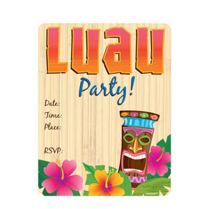 Luau Party Invitations- 50ct