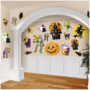 Glitter Halloween Value Pack Cutouts- 20ct