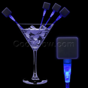 LED Square Cocktail Stirrers - Blue