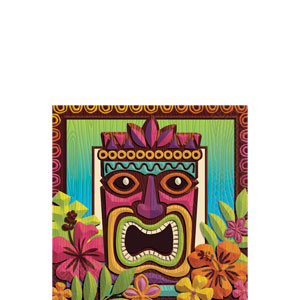 Tropical Tiki Beverage Napkins- 125ct