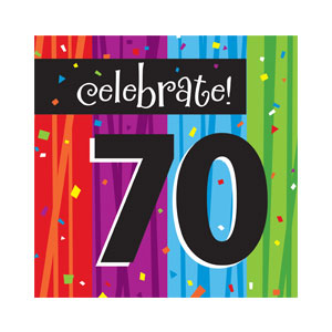 Celebrate 70 Luncheon Napkins - 16ct