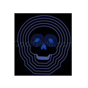 LED Sound Activated Patch - Blue Skull