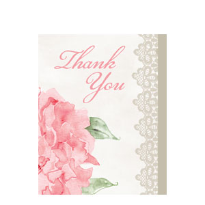Antique Bridal Thank You Cards