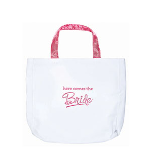 Canvas Bride Tote Bag- 20in