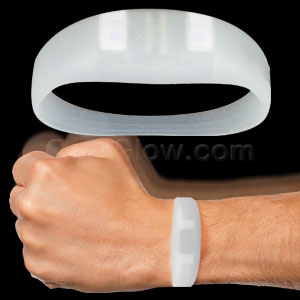 LED Motion Activated Wristband - White