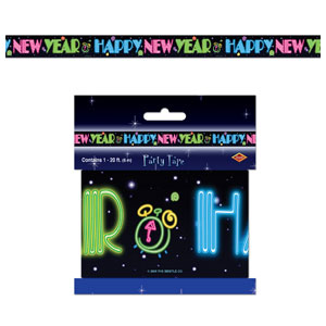 Neon Happy New Year Party Tape - 20ft