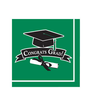 Grad Luncheon Napkins - Green