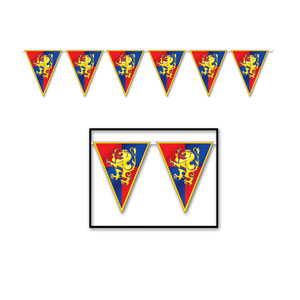 Medieval Pennant Banner - 12ft