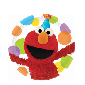 Elmo Party 9 Inch Plates- 8ct