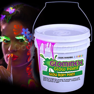 Glow Body Paint Gallon Pink