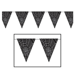 Spider Web Pennant Banner - 12ft