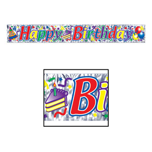 Happy Birthday Fringe Banner 8in x 5ft