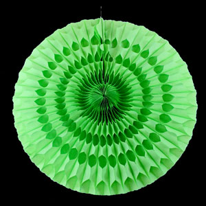 Solid Green Paper Fan - 20 Inch