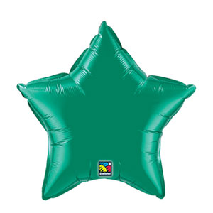 20 Inch Star Metallic Balloon- Emerald Green