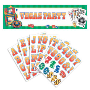 Casino Personalized Giant Banner- 65in