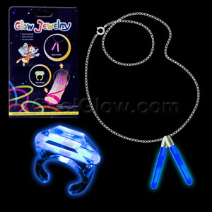 Glow Ring and Anklet Set - Blue