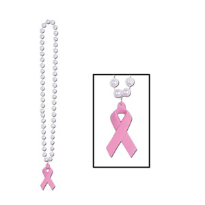 Pink Ribbon Medallion Beads
