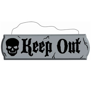 Keep Out Hanging Styrofoam Sign- 17in