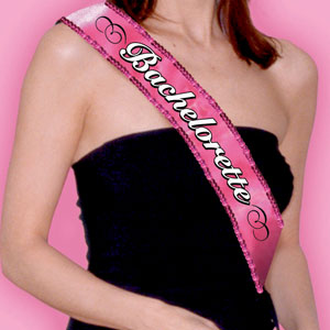 Bachelorette Party Fabric and Sequin Sash- 30in