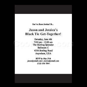 Black - Custom Invitations