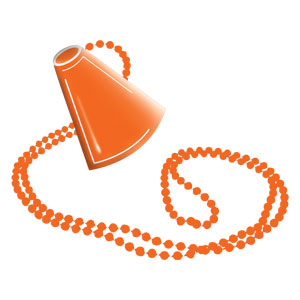Megaphone Necklace - Orange