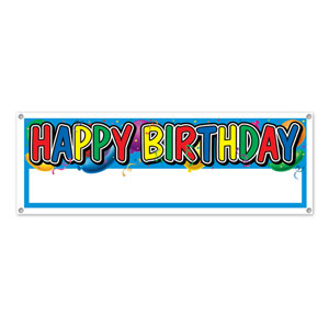 Happy Birthday Customizable Sign Banner - 5ft
