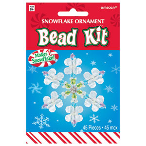 Snowflake Bead Ornament Kit- 45pc