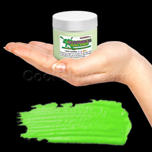 Glominex Glow Paint 4 oz Jar - Invisible Day Green