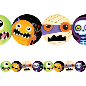 Boo Crew Monster Printed Paper- 8ft