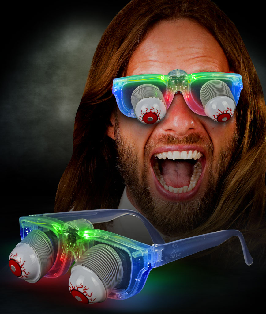 LED Joke Eyeball Glasses - Multicolor