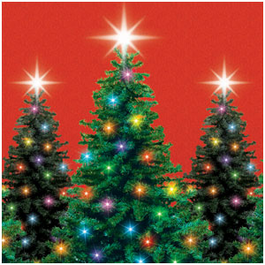 Christmas Trees Scene Setter - 40ft