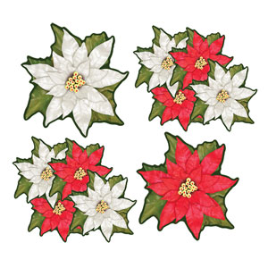 Mini Poinsettia Cutouts - 10ct