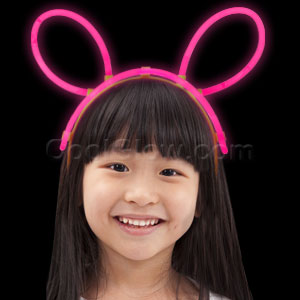 Fun Central D51 Glow in the Dark Headband - Pink