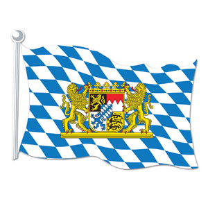 Bavarian Flag Cutout- 18in