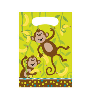 Monkeyin' Around Loot Bags- 8ct