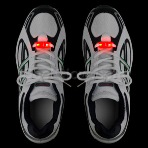 LED Motion Activated Shoe Laces - Red