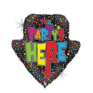 The Party's Here Balloon - 30 inch